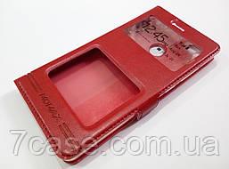 Чехол книжка с окошками momax для Xiaomi Mi 4s красный
