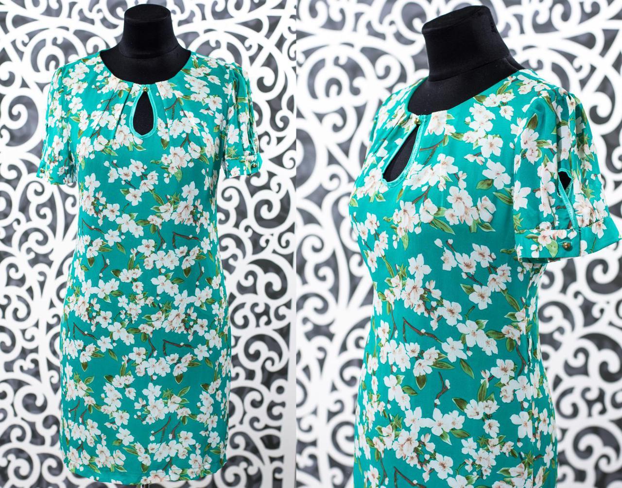 "Шикарное женское платье ткань ""Шифон"" б 48, 50, 52, 54 размер батал"