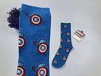 Носки Marvel pattern Капитан Америка (голубые)