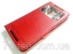 Чехол книжка с окошком momax для Lenovo Vibe X3 красный