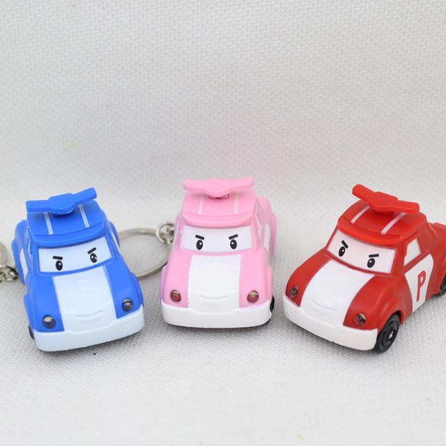 Популярный LED брелок Поли car со звуком и фонариком