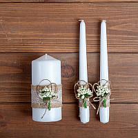 Набор свадебных свечей в стиле ркстик (арт. WC-501)
