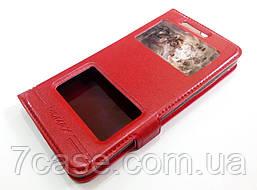 Чехол книжка с окошками momax для Lenovo Vibe C2 k10a40 красный