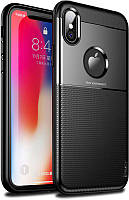 Чехол-накладка Ipaky Elegant Grid Design TPU Hybrid Case Apple iPhone X Black