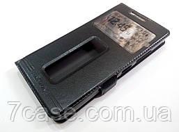 Чехол книжка с окошками momax для Lenovo Vibe P1m черный
