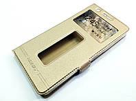 Чохол книжка з віконцями momax для Lenovo K3 Note / A7000 золотий, фото 1