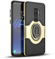 Чехол-накладка Ipaky 360° Free Rotation Ring Holder case Samsung Galaxy S9 G960F Gold