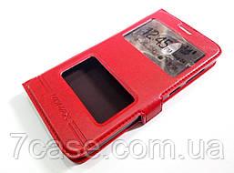 Чехол книжка с окошками momax для Huawei Y625 красный