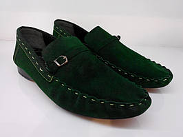Мокасины Etor 10093-7019 зеленые