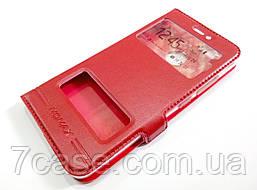 Чехол книжка с окошками momax для Huawei Nova красный