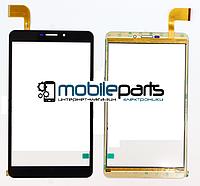 """Оригинальный сенсор (Тачскрин) для планшета 7"""" DIGMA Plane 7.6 3G (183x104 мм, 51 pin) (Черный-Самоклейка)"""