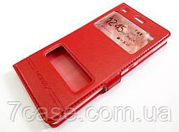 Чехол книжка с окошками momax для Huawei P8 Lite красный