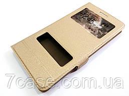 Чехол книжка с окошками momax для Huawei GR5 / Honor 5X / Honor 7 Plus золотой