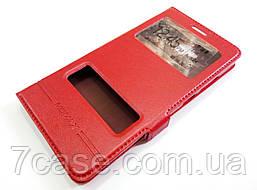 Чехол книжка с окошками momax для Huawei GR5 / Honor 5X / Honor 7 Plus красный