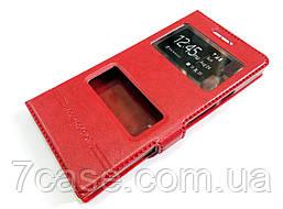 Чехол книжка с окошками momax для Huawei Ascend P6 красный
