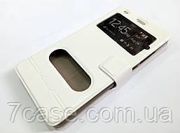 Чехол книжка с окошками momax для Huawei P8 Lite белый
