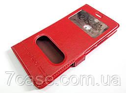 Чехол книжка с окошками momax для Huawei P9 красный