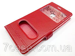 Чехол книжка с окошками momax для Huawei P9 Lite красный