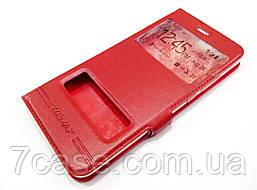 Чехол книжка с окошками momax для Huawei P10 Plus красный