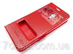 Чехол книжка с окошками momax для Meizu M5c красный