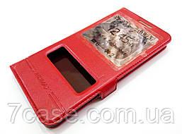 Чехол книжка с окошками momax для Meizu U20 красный