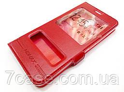 Чехол книжка с окошками momax для Meizu M5 красный