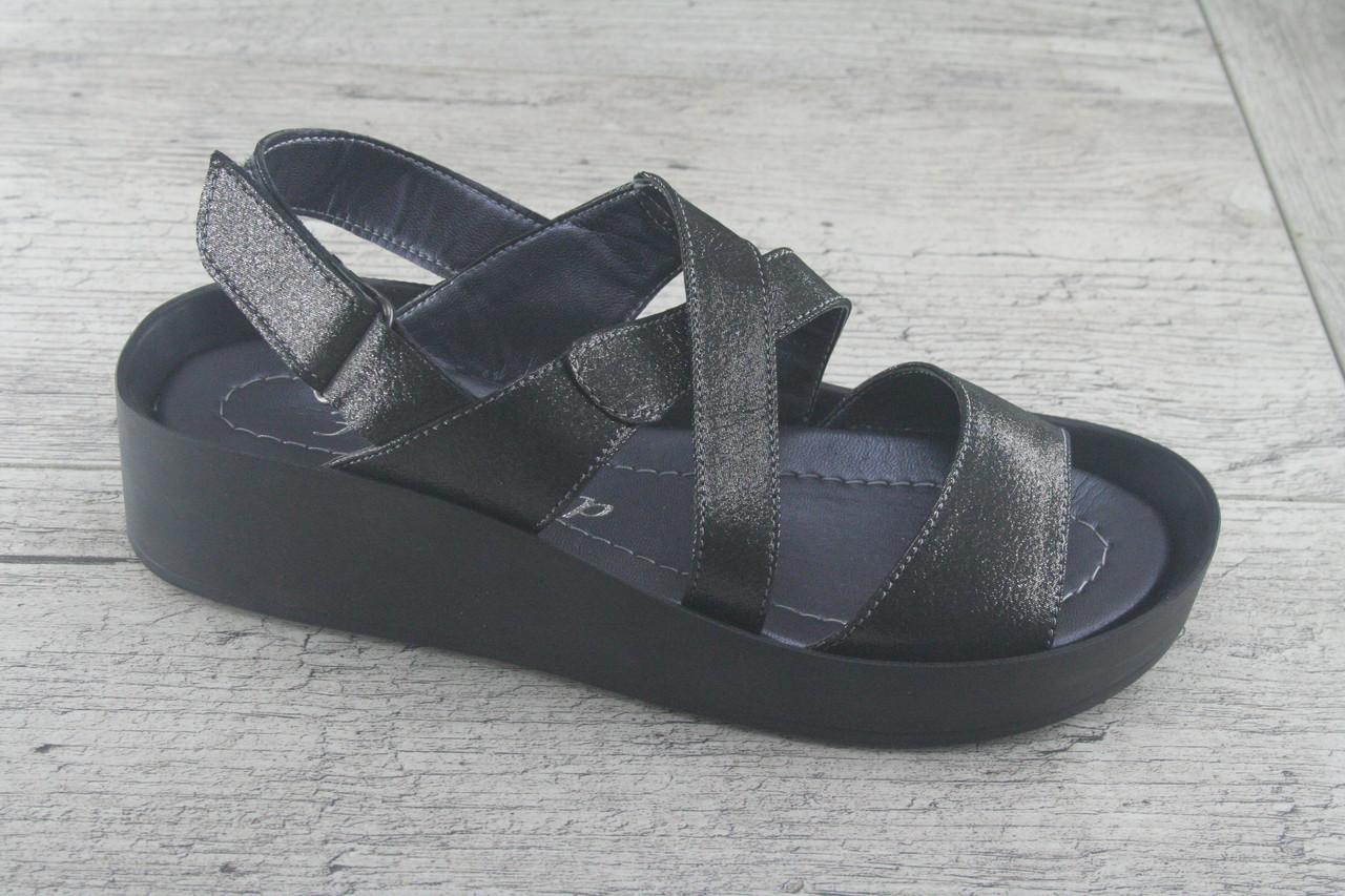 Босоножки, сандалии  женские на ровной ходу из натуральной кожи Foot Step, обувь летняя, открытая, Украина