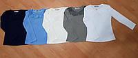 Кофта школьная для девочки 6-9 лет белого,голубого,синего,серого,молоко цвета с длинным рукавом оптом