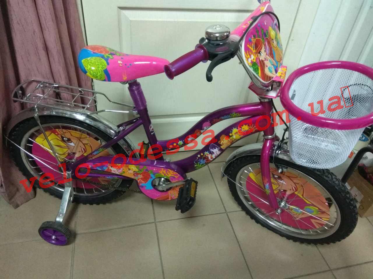 Детский двухколесный велосипед winx 20+корзинка дюймов