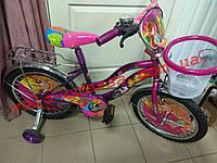 Детский двухколесный велосипед winx 20+корзинка дюймов, фото 1