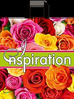 """Пакет с ручками петля """"Роза вдохновения"""" (38х43+3)80мкм 25шт/упаковка"""