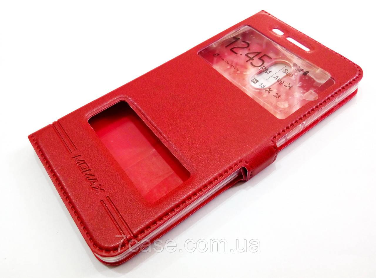 Чехол книжка с окошками momax для Nokia 6 красный