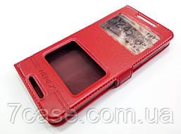 Чехол книжка с окошками momax для HTC Desire 626 / 626g / 626g+ красный