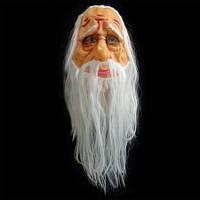 Маска латексная Старик с волосами