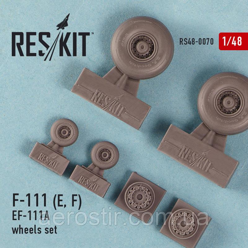 General Dynamics F-111 (E, F) / EF-111A wheels set 1/48 RES/KIT 48-0070