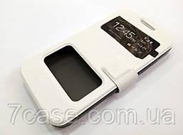 Чехол книжка с окошками momax для HTC Desire 300 белый