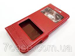 Чехол книжка с окошками momax для HTC 10 красный
