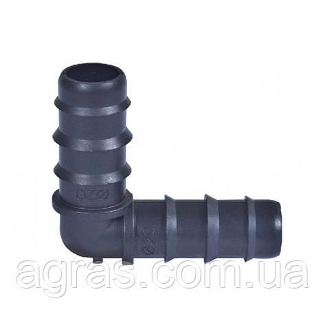 Колено соединительное для трубки d 20 мм Китай, фото 2