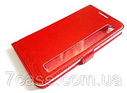 Чехол книжка с окошком momax для LG X power K220DS красный