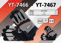 Перчатки рабочие из полиэстера размер 9/XXL, YATO YT-7467, фото 1