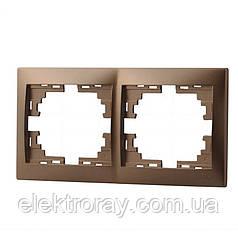 Двойная рамка горизонтальная без вставки Lezard Mira