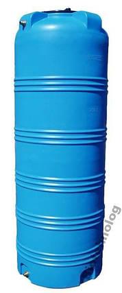 Дарим 170 грн на доставку. Емкость 750 литров бак, бочка пищевая узкая вертикальная 700 800 V, фото 2