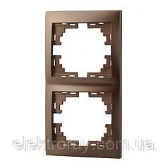 Двойная рамка вертикальная без вставки Lezard Mira