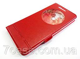 Чехол книжка с окошком momax для Asus Zenfone 3 Laser ZC551KL красный