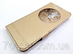 Чехол книжка с окошком momax для Asus Zenfone 3 Max ZC520TL золотой
