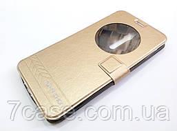 Чехол книжка с окошком momax для Asus Zenfone 2 ZE550ML / ZE551ML золотой