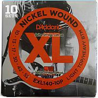 Струны D'Addario EXL140-10P Nickel Wound 10-52 10 set, фото 1