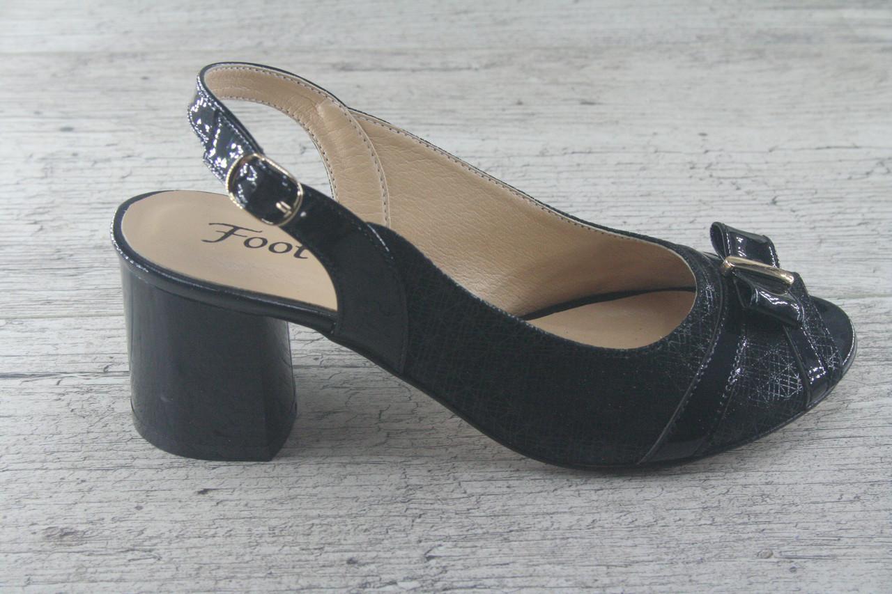 Босоножки, туфли, сабо на каблуке из натуральной кожи Foot Step, обувь летняя, открытая, Украина