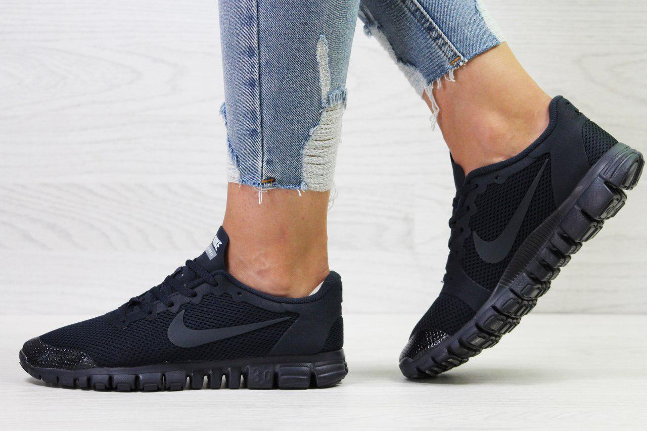 ef6a2874 Кроссовки в стиле Nike Free 3.0 (темно синие) летние кроссовки найк nike  5428, ...