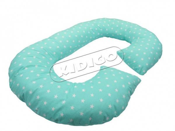 Подушка для вагітних та годування KIDIGO Рогалик - Зірки (з наволочкою)